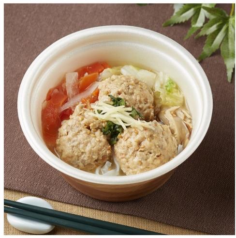 ごぼうと蓮根のつくね入り和風スープ(ファミマ)